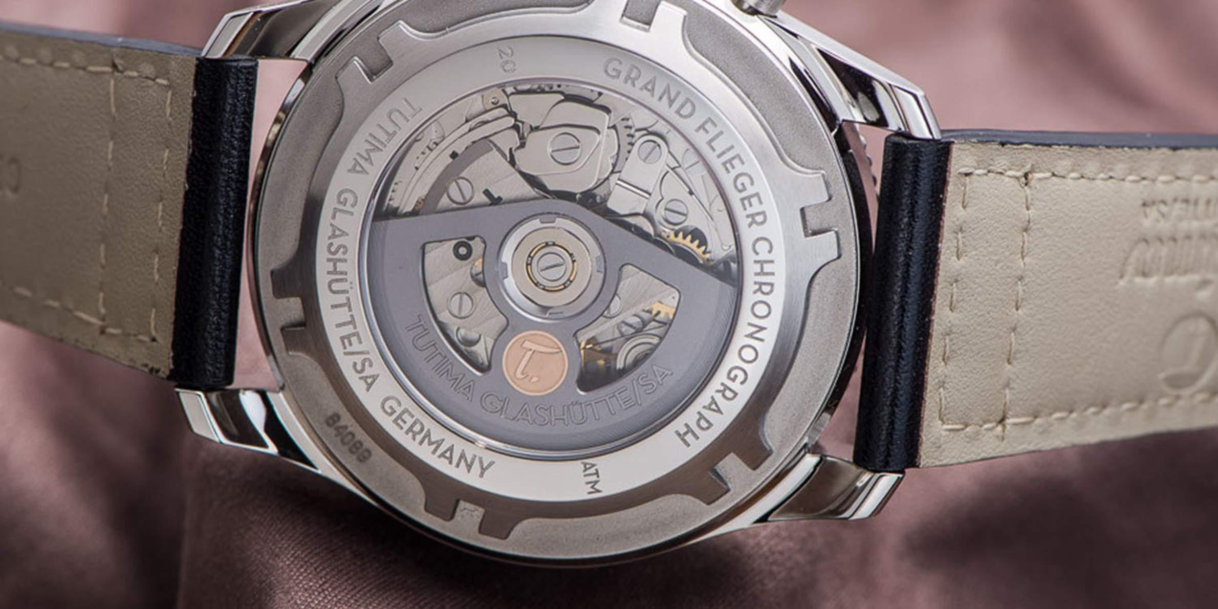 Tutima Grand Flieger Chronograph movement, Image: Bert Buijsrogge