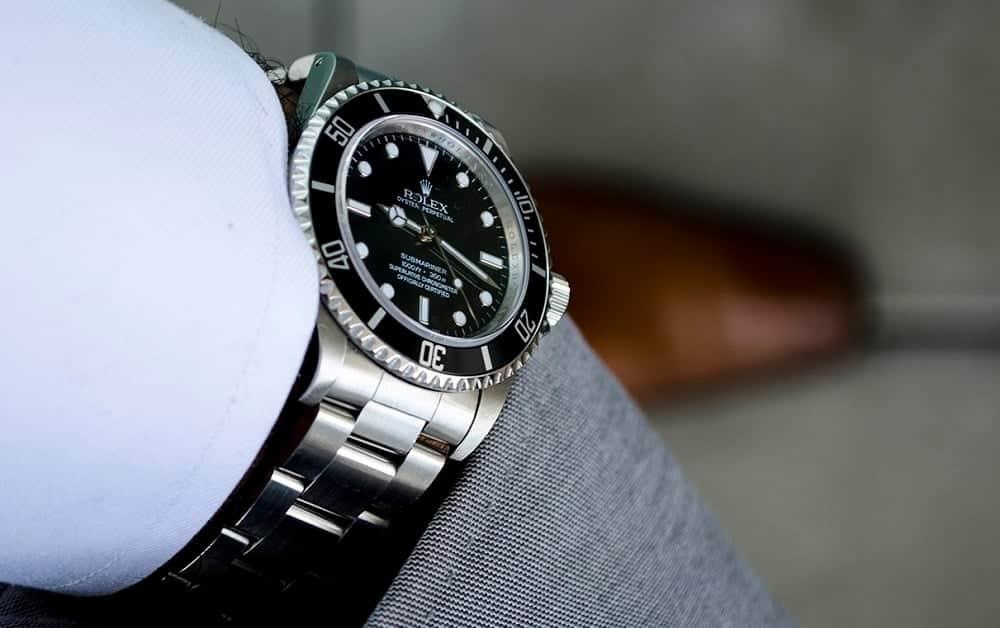 Rolex Submariner on wrist