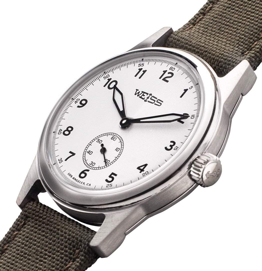 White Standard Issue Field Watch 38mm, Photo: Weiss Watch Company