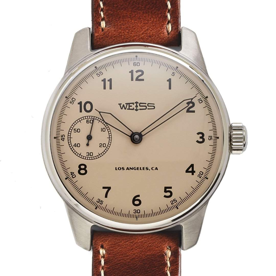 Weiss 42mm American Issue Field Watch Latte Dial, Photo: Weiss Watch Company