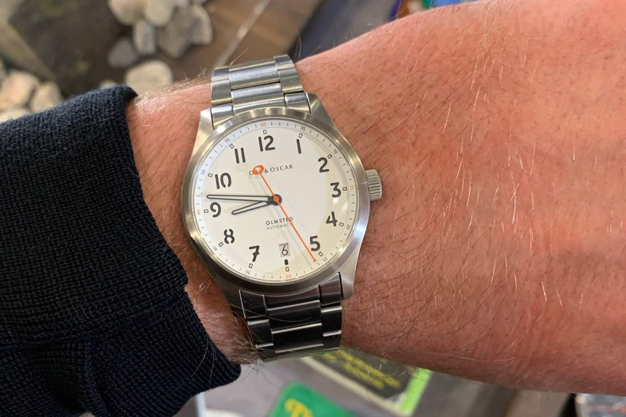 Oak & Oscar The Olmsted with a white dial