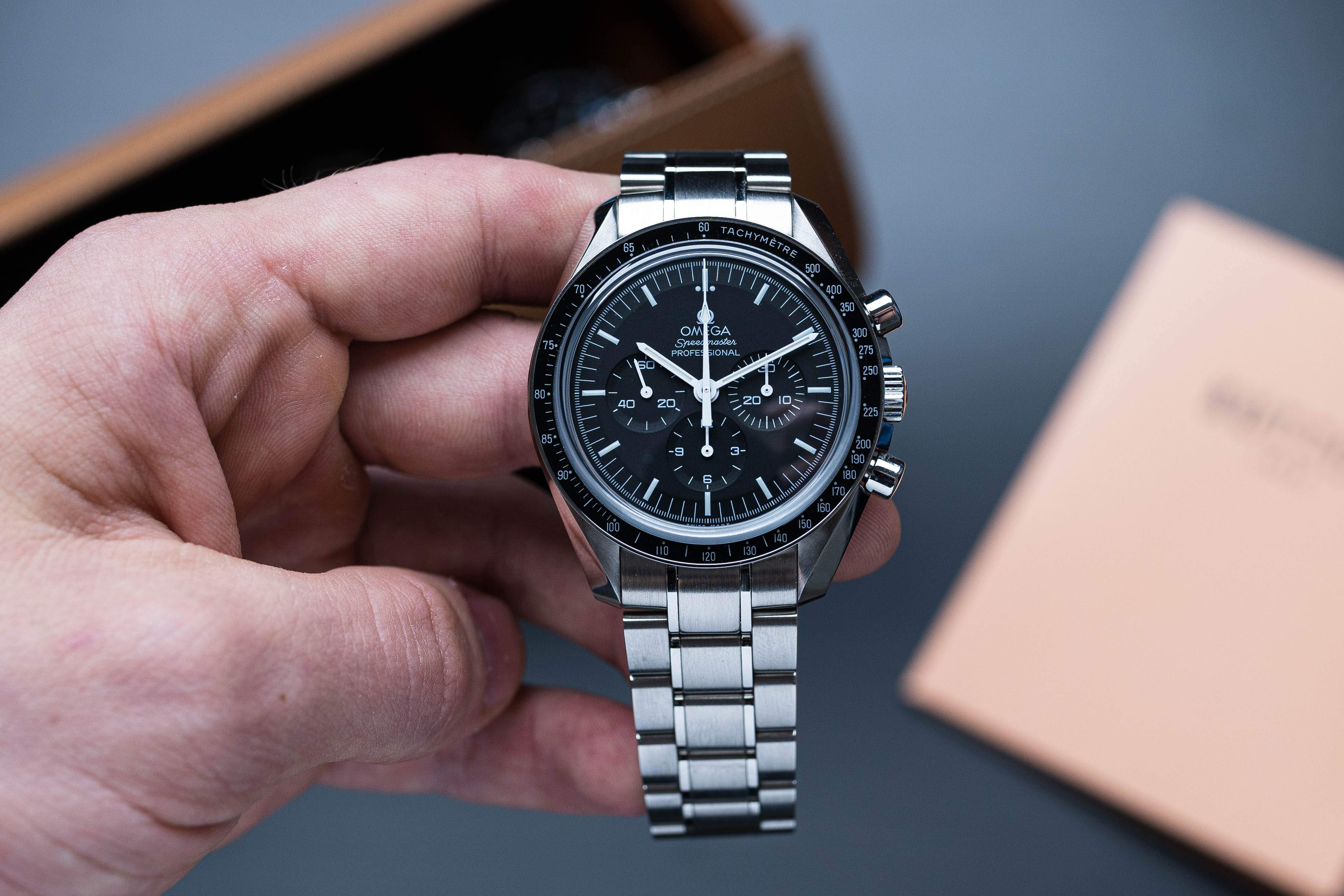 One of Omega's most iconic models: the Speedmaster Professional, a.k.a. the