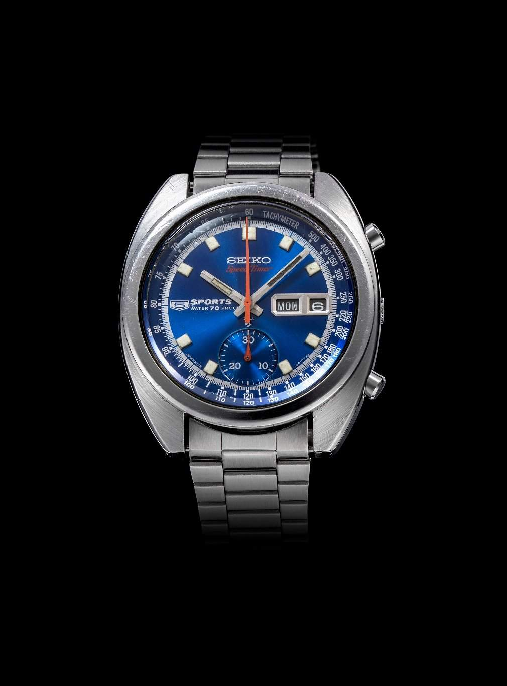 The Seiko 5 Sports SPEEDTIMER: The world's first watch with an automatic chronograph movement debuted in May 1969.