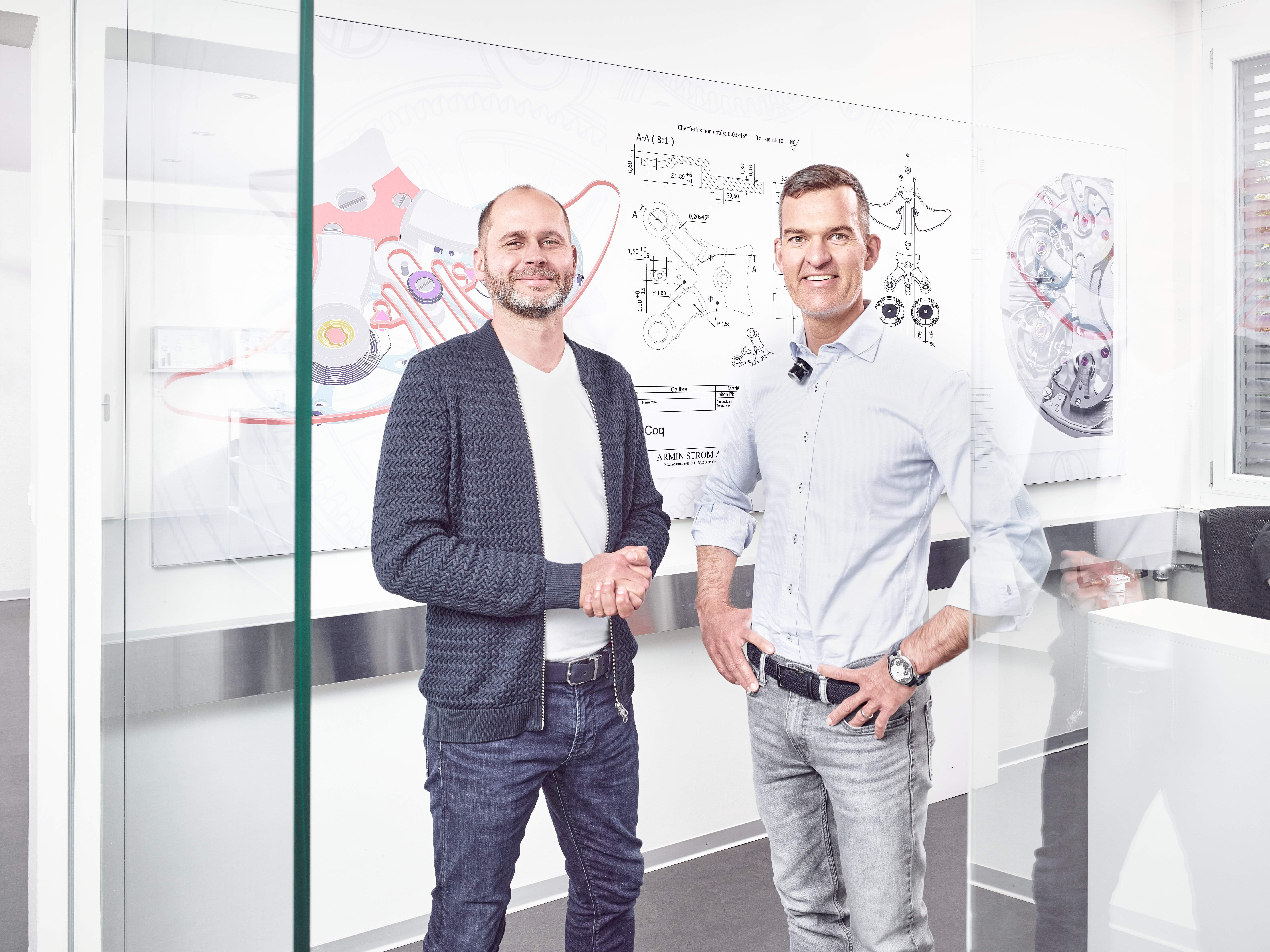 Armin Strom founders: Serge Michel and Claude Greisler, Image: Armin Strom
