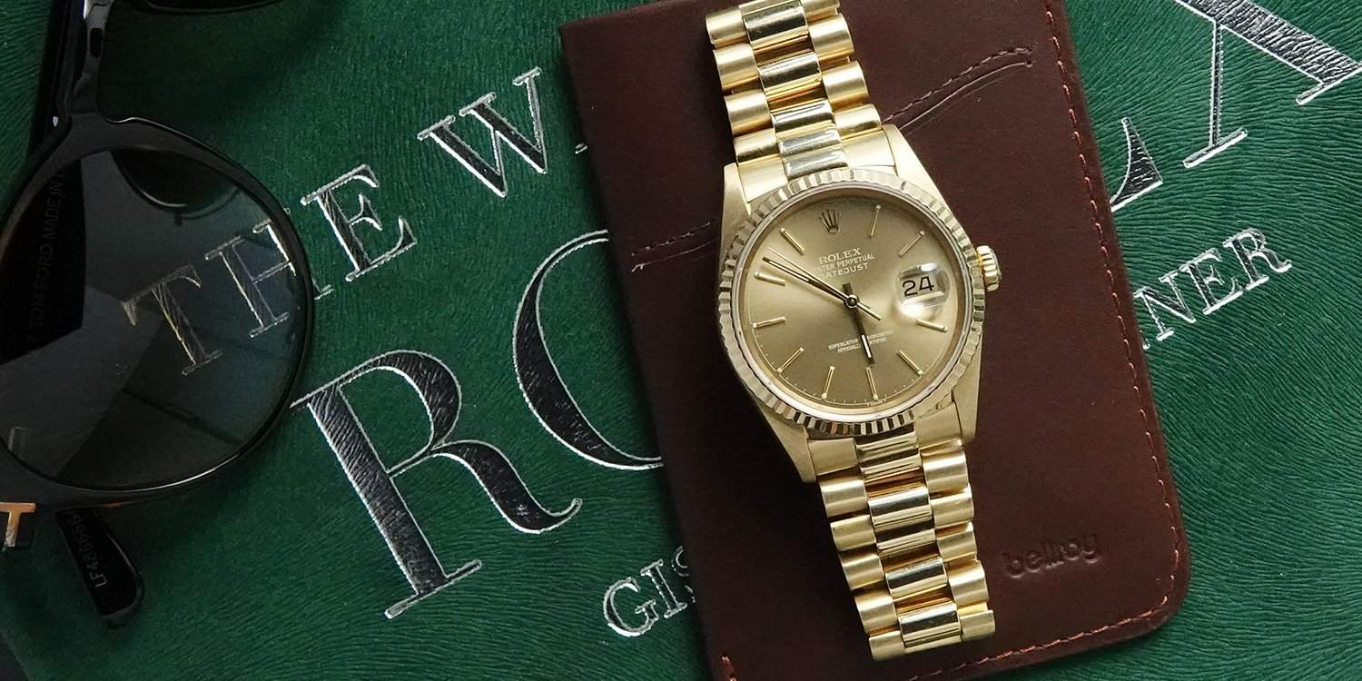 Solid gold Rolex Day-Date, a beautiful watch by one of Switzerland's finest
