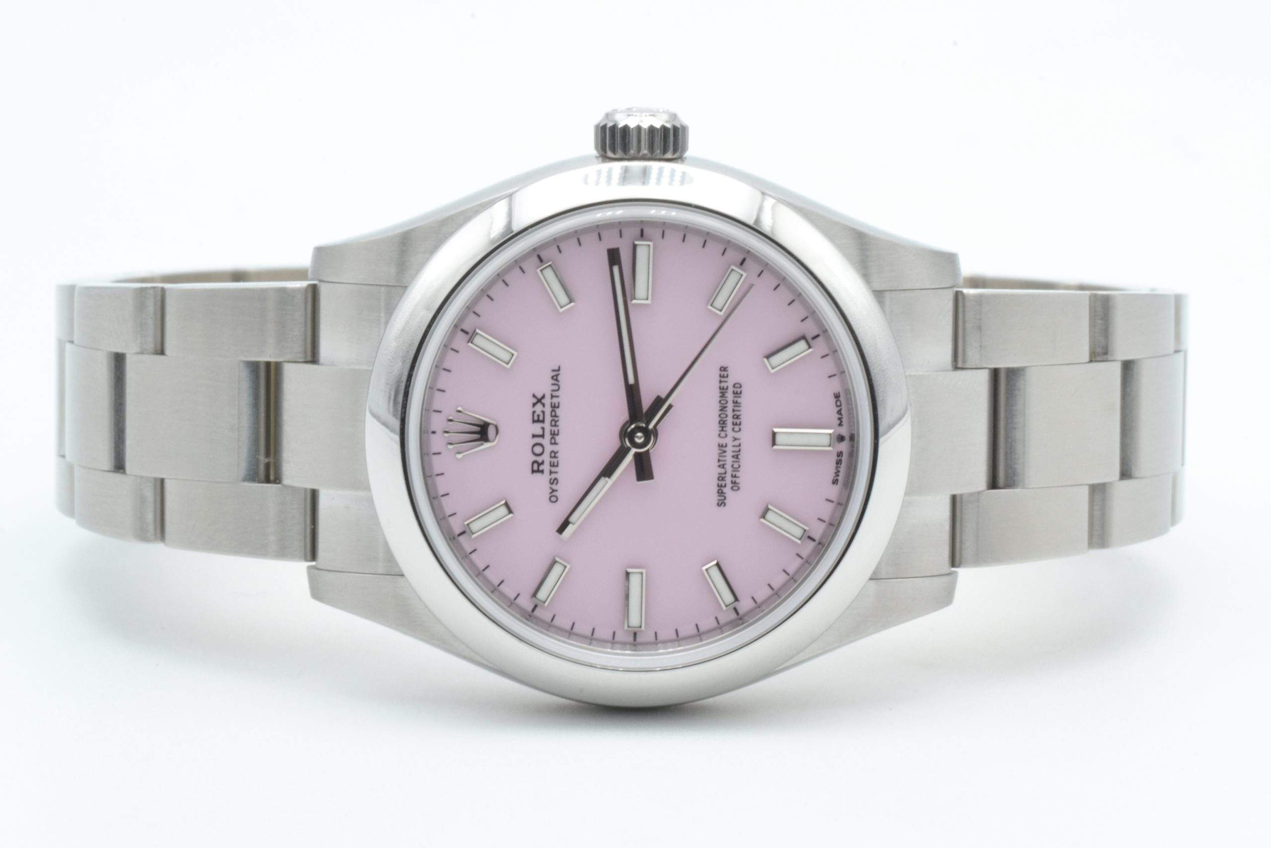 Rolex Oyster Perpetual in candy pink