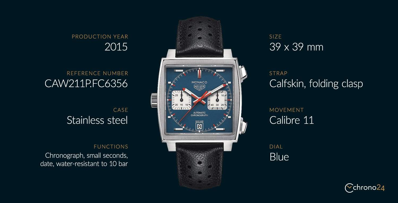 The TAG Heuer Monaco CAW211P.FC6356