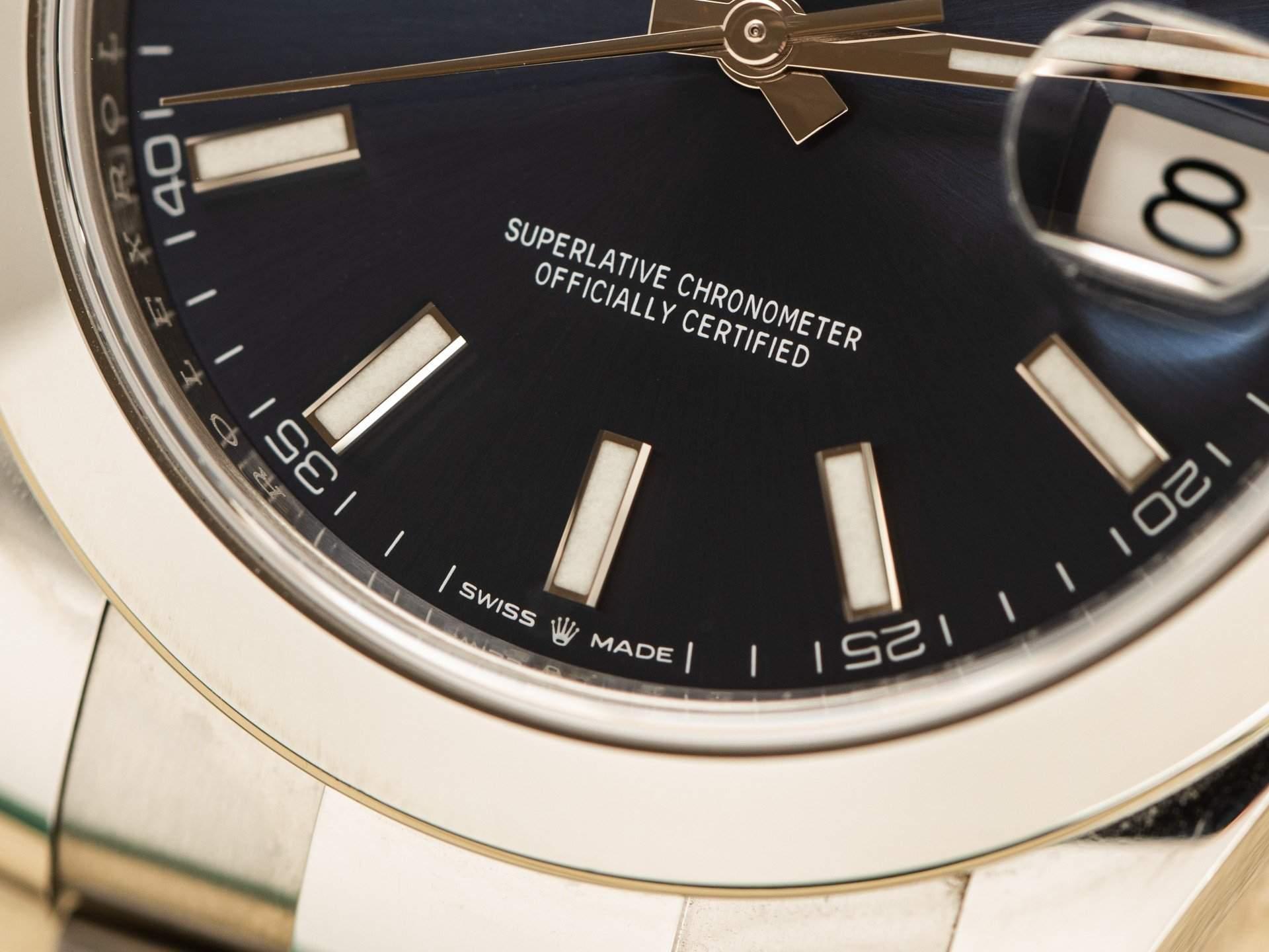Superlative Chronometer Officially Certified inscription