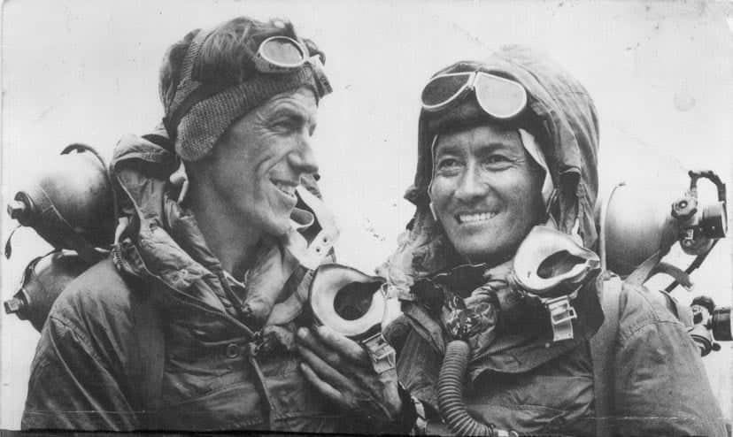Rolex oder Smiths? Mount-Everest-Abenteurer Sir Edmund Hillary machte fleißig Uhren-Werbung.