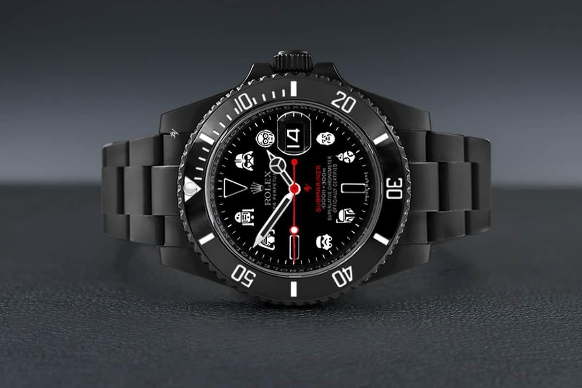 Diving or sky-walking? Black Venom's Star Wars Rolex Submariner.