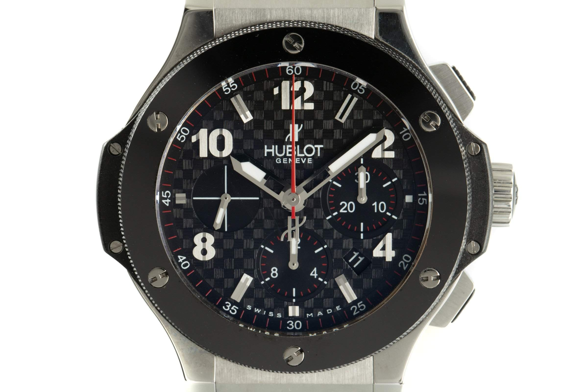 Hublot Big Bang ref. 301.SB.131.RX with a stamped carbon-effect dial