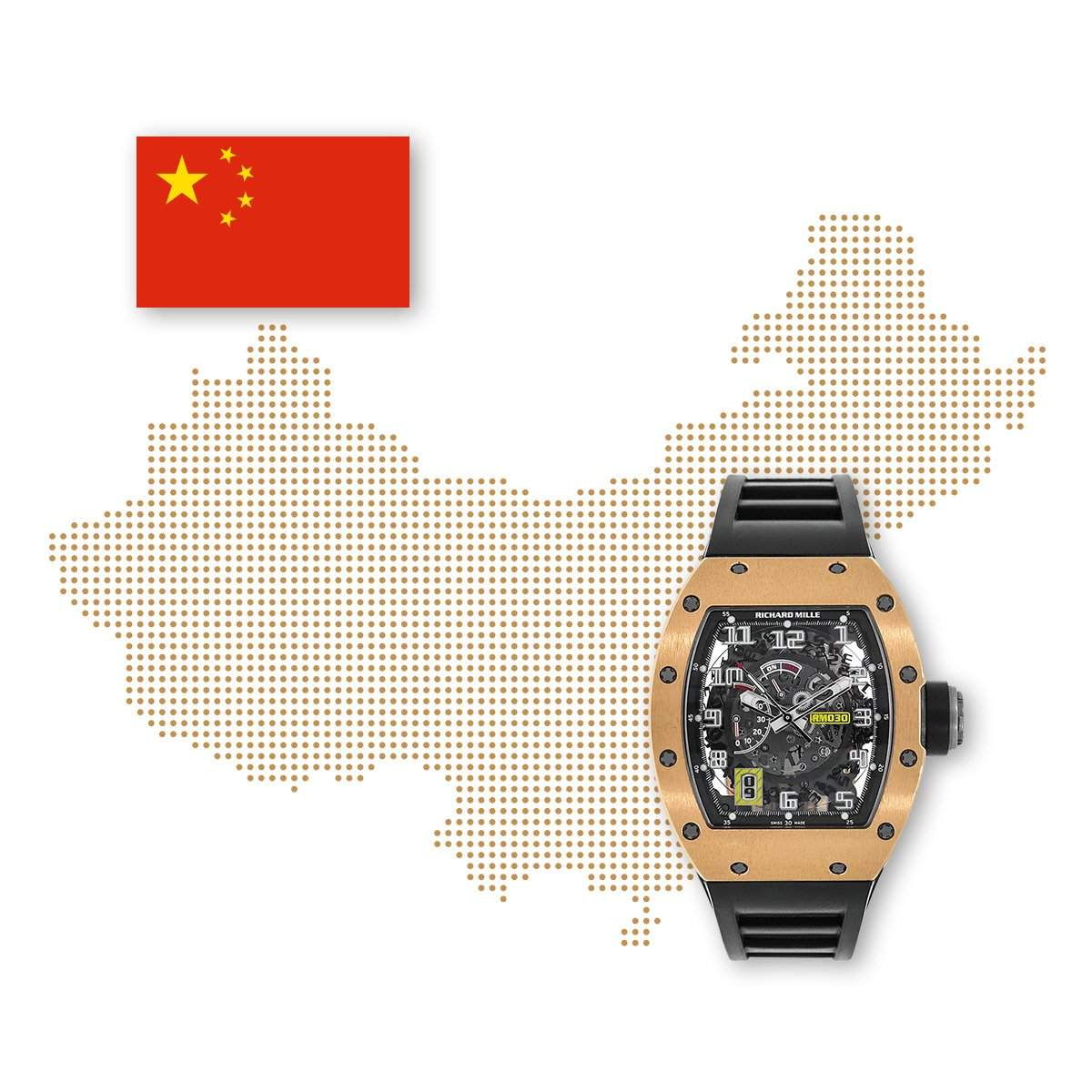 Chrono24 buyers from China often search for luxury brands including Audemars Piguet, Patek Philippe, and Richard Mille.