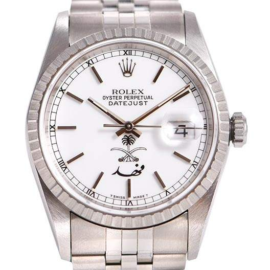 「サウジアラビア」ダイヤルを搭載したロレックスは真のレアモデル。この時計の珍しい特徴にはよく見てみないと気づかない。