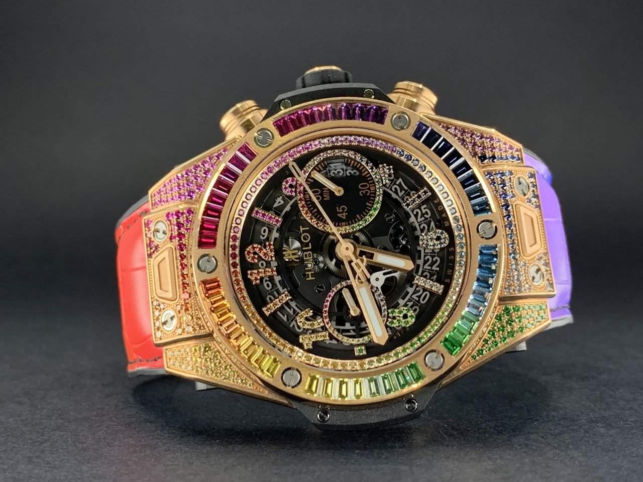 Shiny and extravagant: Kylian Mbappé's Hublot Big Bang King Gold Rainbow