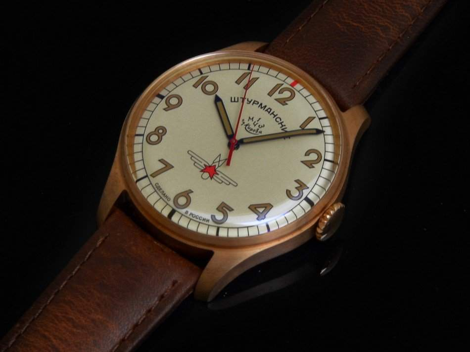 Bronze watches age with their wearer.