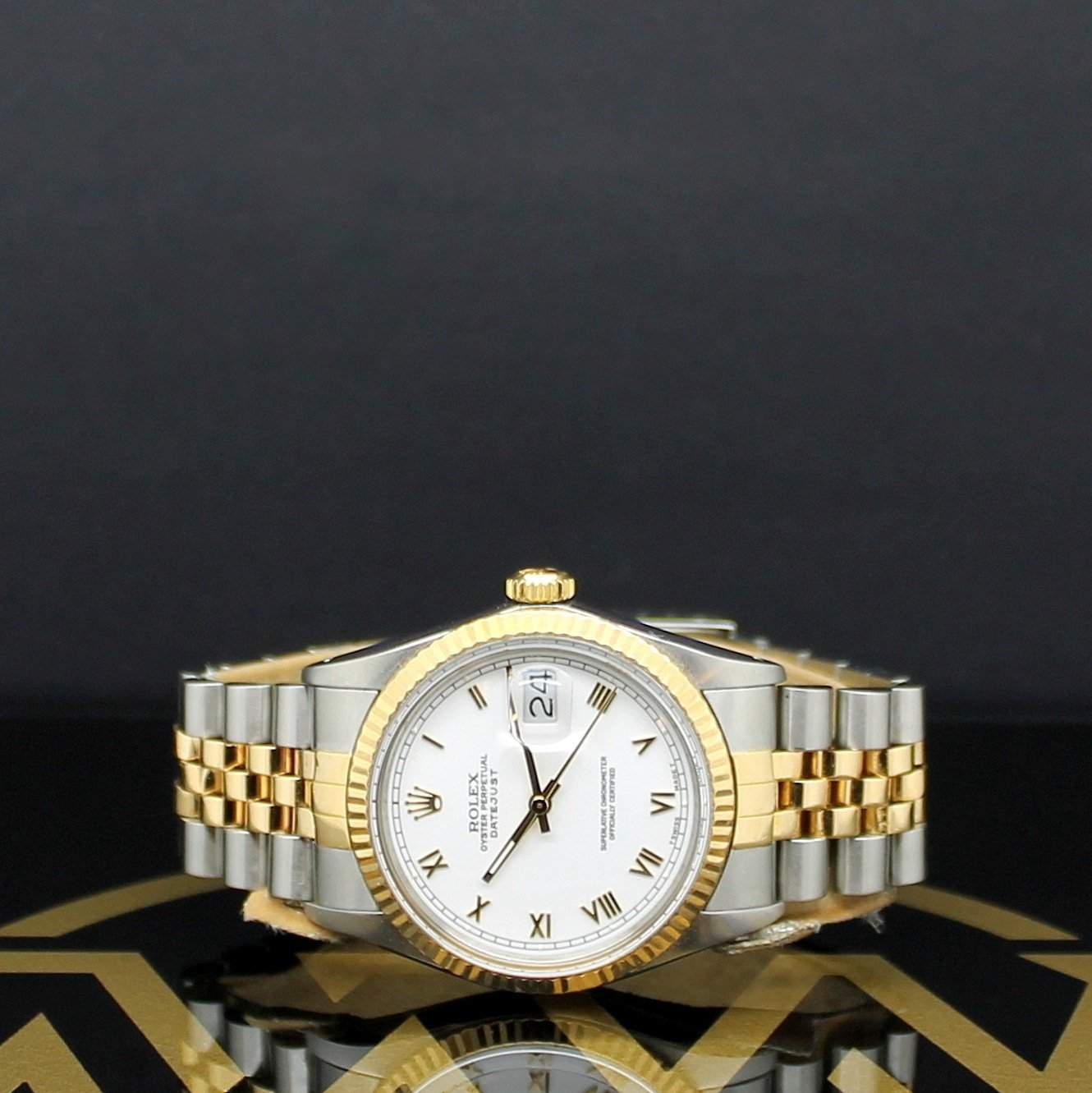 The two-tone version of the Datejust is probably the original version that Rolex had in mind.