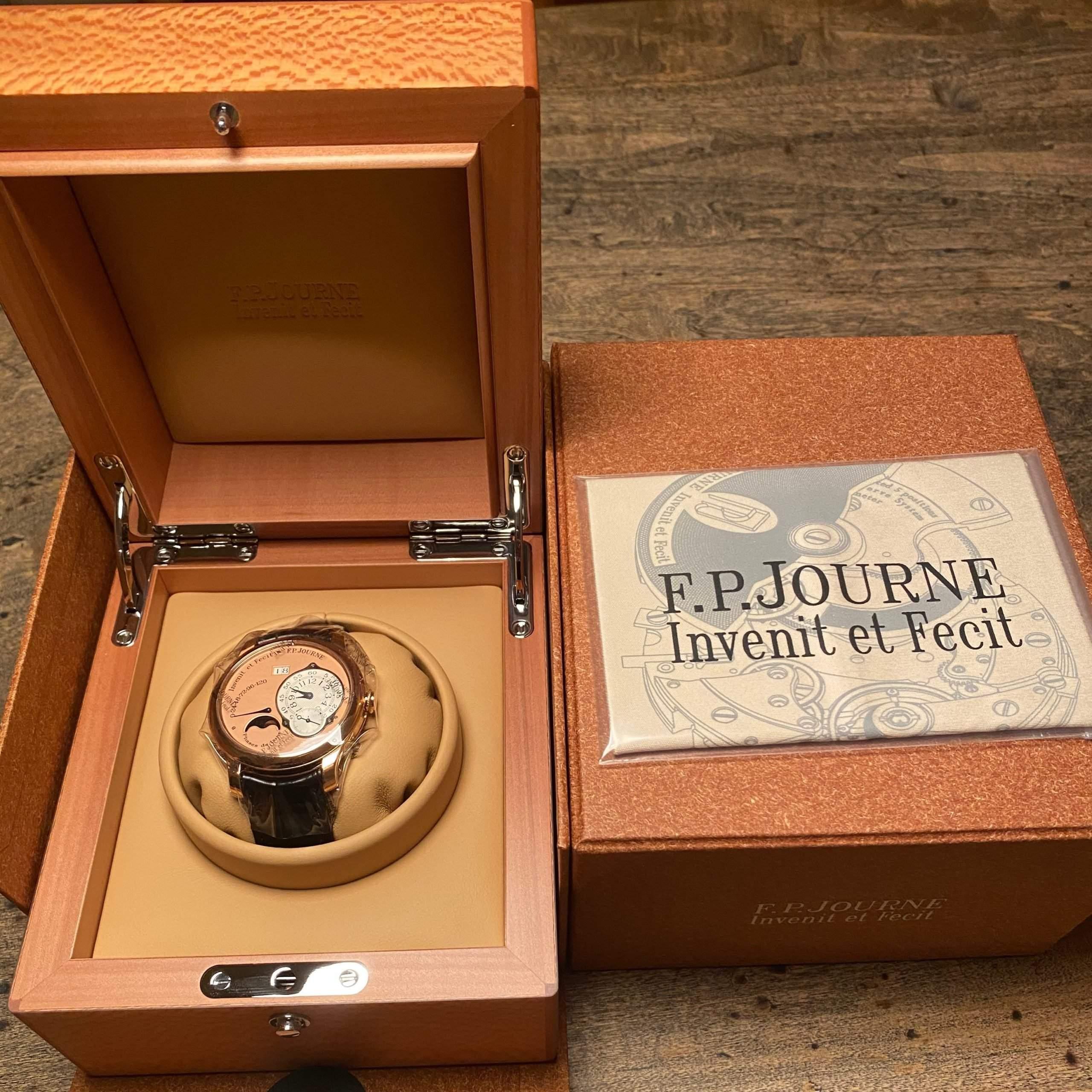 "F.P. Journe's motto: Invenit et Fecit: ""[He] invented it and made it."""