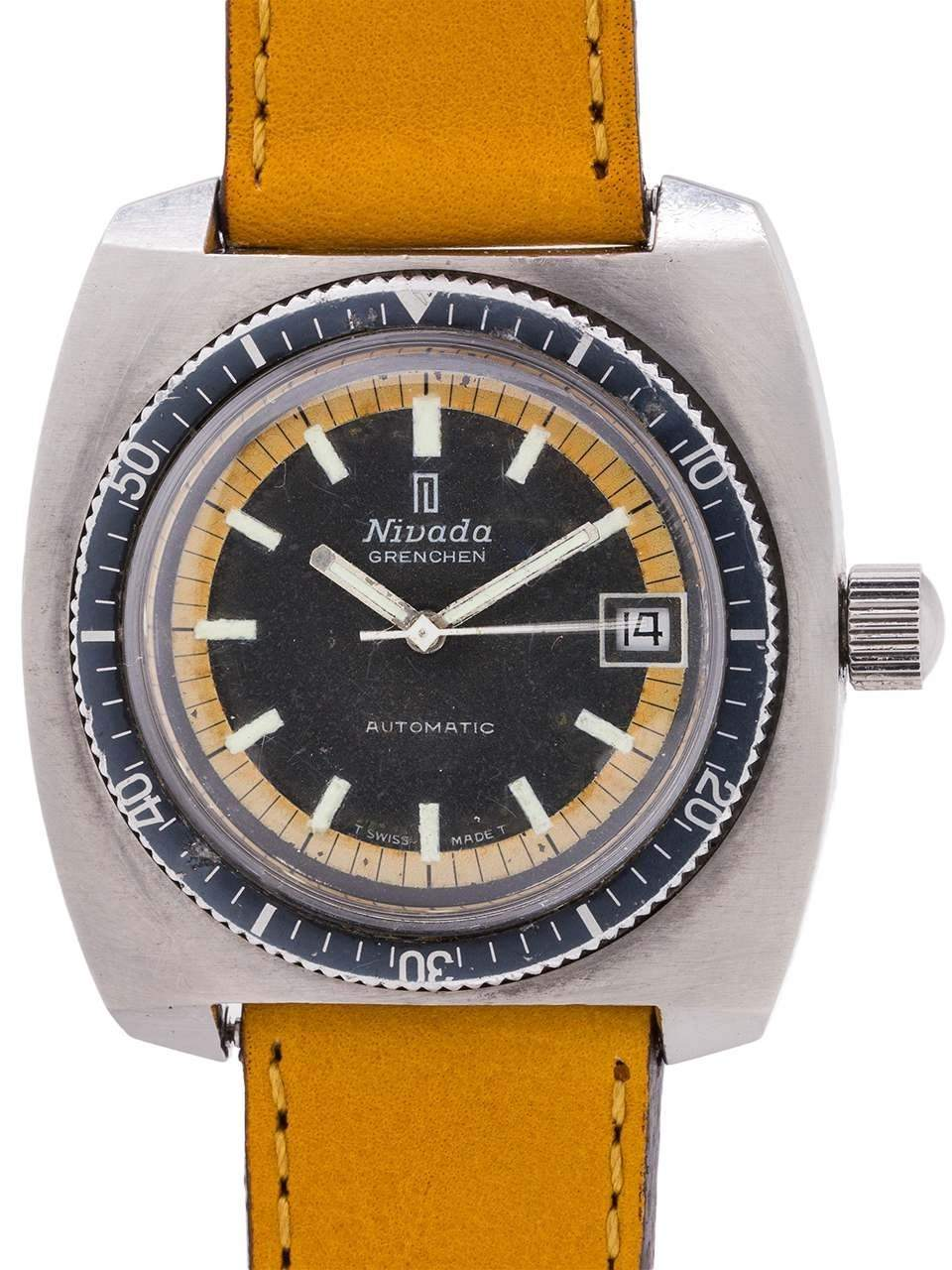 Nivada Grenchen 1960s diving watch