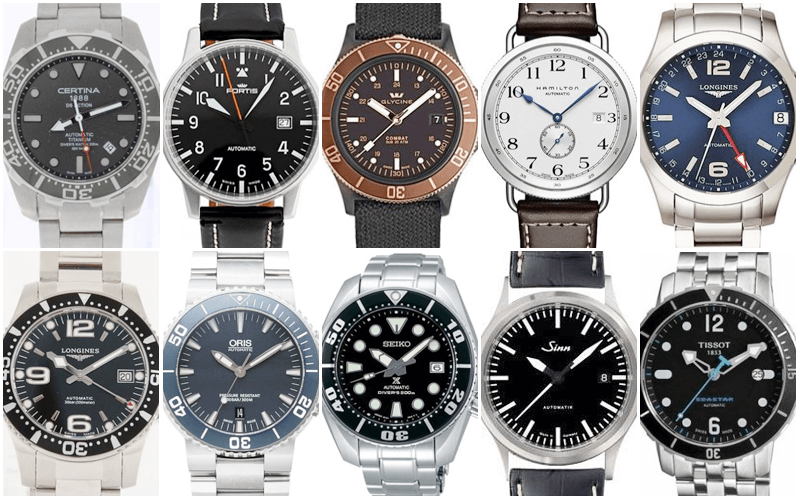 Top 10 Watches under 1000 Euro