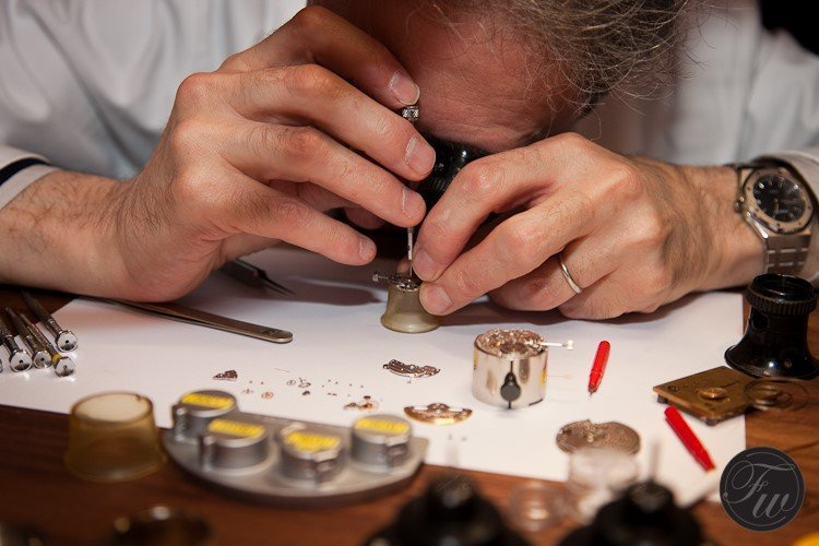 Watchmaker at work