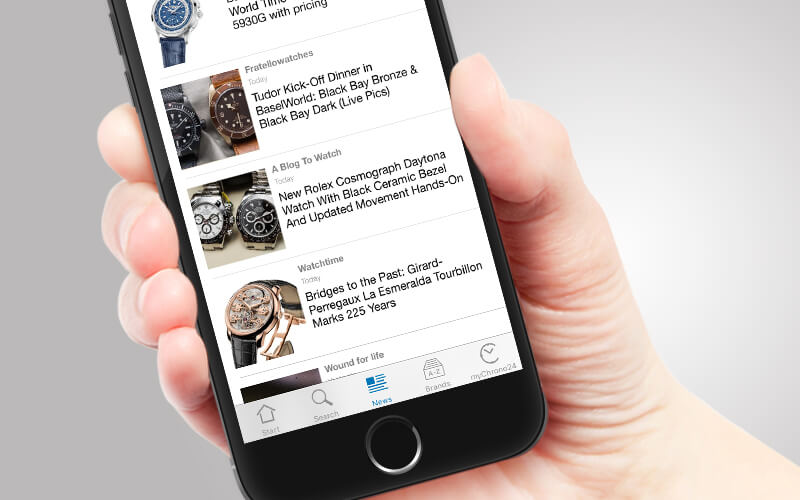 Watch News Chrono24 iPhone app