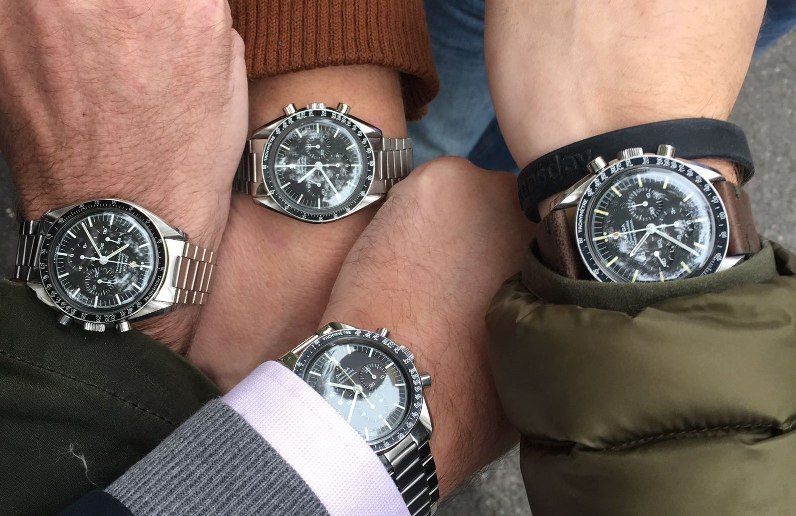 Omega Speedmaster Group Wristshot