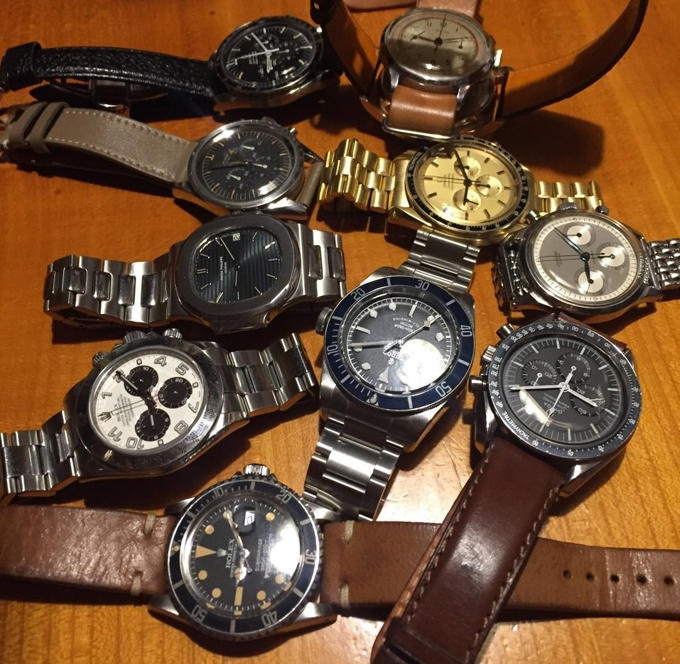 Watch Collectors Table Shot