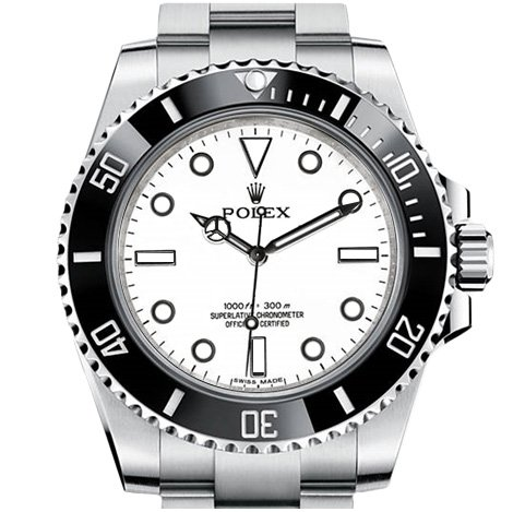 Rolex Submariner with white dial