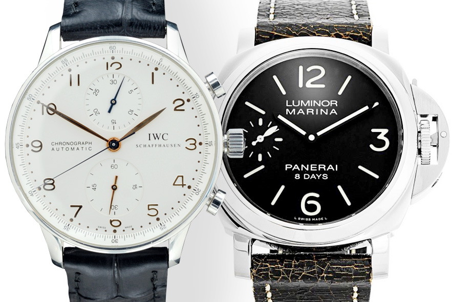 Watch Pairs IWC Portuguese Chronograph and Panerai Luminor Marina 8 Days